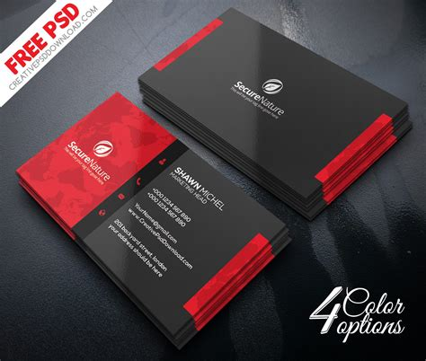 premium corporate business card psd freebie