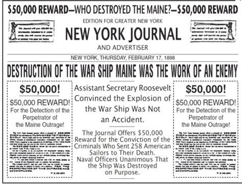 uss maine sinking yellow journalism christopher uss maine yellow journalism thinglink