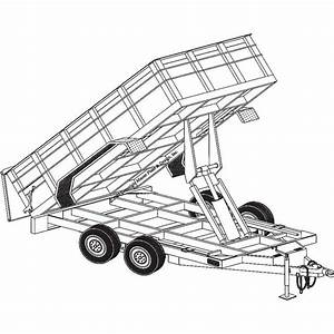 Trailer Blueprints  U2014 12ft  X 6ft 4in  Hydraulic Dump