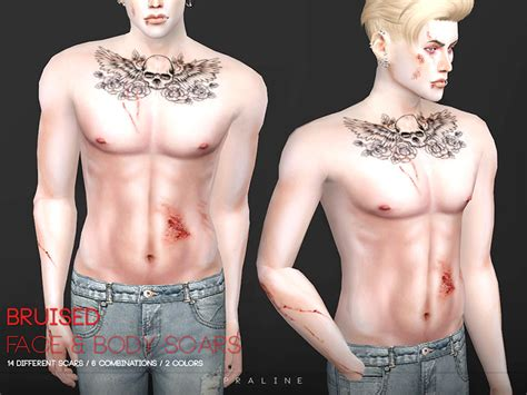 Sims 4 Injury Cc Scars Bruises Bandages And More Fandomspot