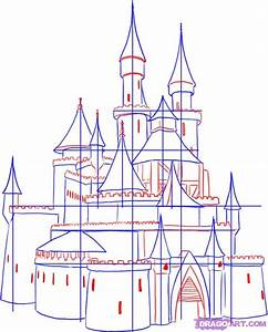 Step 3. How To Draw A Medieval Castle