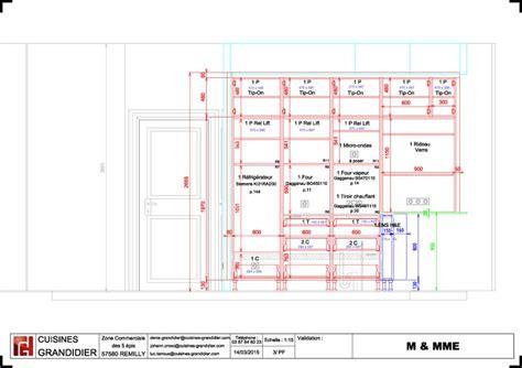largeur d un plan de travail cuisine plan cuisine sur mesure cuisine sur mesure plan plan