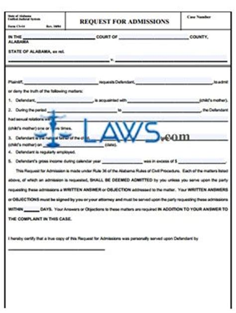request  admissions alabama forms lawscom