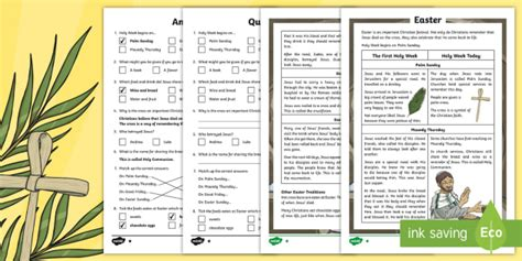 Ks2 Easter Cfe Differentiated Reading Comprehension Activities
