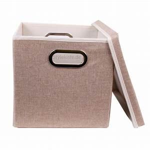 Aufbewahrungsbox Mit Deckel Stoff : aufbewahrungsbox faltbox mit deckel in beige 27 x 28 x 30 cm viva ovp neu ebay ~ Watch28wear.com Haus und Dekorationen