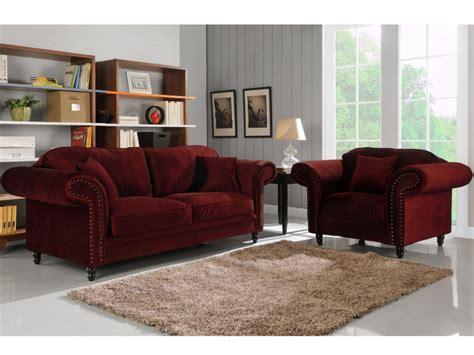 canapé velours bordeaux canapé et fauteuil 100 velours 3 coloris elisabeth