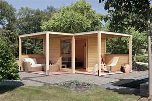Gartenhaus Mit überdachter Terrasse : gartenhaus karibu cubus mit eckt r ebay ~ One.caynefoto.club Haus und Dekorationen