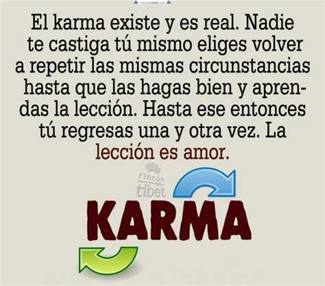 el karma existe y es real nadie te castiga t 250 mismo