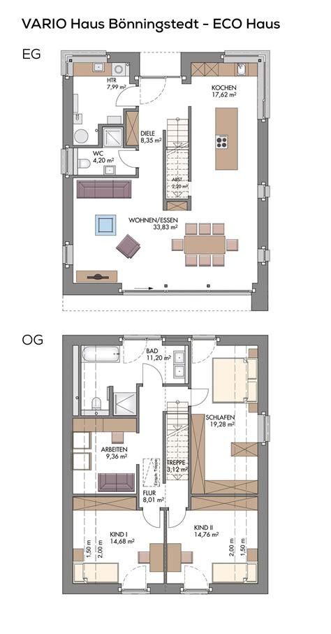 Einfamilienhäuser Grundrisse by Grundriss Einfamilienhaus Modern Mit Klinker Fassade