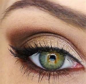 Maquillage Mariage Yeux Vert : 1001 variantes de votre maquillage dor ~ Nature-et-papiers.com Idées de Décoration