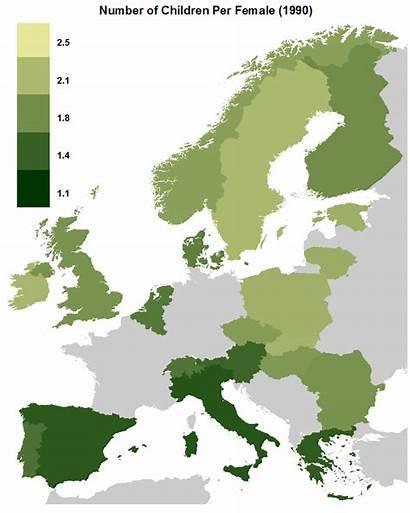 Choropleth Map European Fertility Data Oc 1990