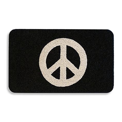Peace Doormat by Peace Sign 18 Quot X 30 Quot Door Mat Bed Bath Beyond
