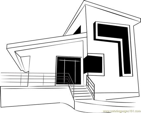 modern cottage coloring page  cottage coloring pages coloringpagescom