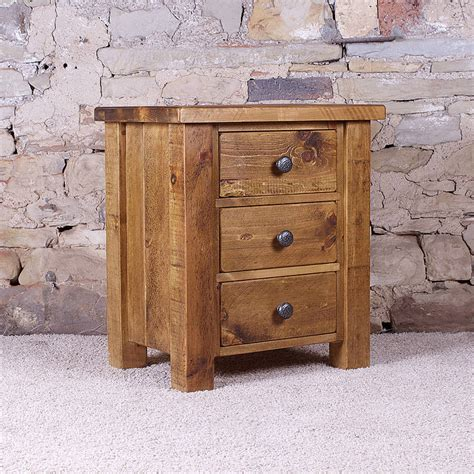 nightstand with drawers solid wood chunky three drawer bedside table by h f