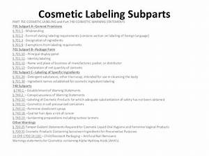 cosmetic labeling claims With fda cosmetic labeling