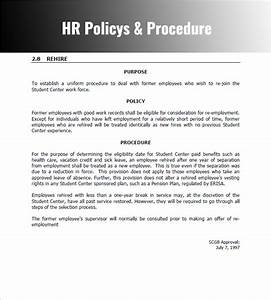 28 policy and procedure templates free word pdf download With hr sop template