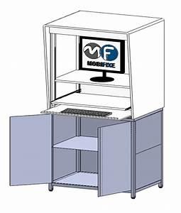 Meuble Plexiglas Transparent : meuble informatique design transparent mobifixe ~ Edinachiropracticcenter.com Idées de Décoration