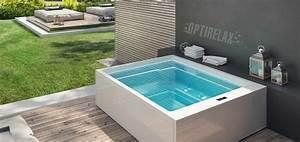 Design luxus whirlpool optirelaxr gt spapools for Whirlpool garten mit große pflanzkübel beton