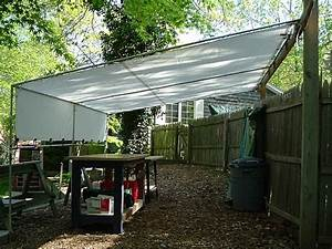 Creative shelters pvc and tarp shade tent patio for Diy tarp patio covers