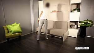Lit Gain De Place : meubles sicre lit armoire gain de place youtube ~ Premium-room.com Idées de Décoration