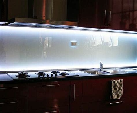 kitchen led lighting strips backlit glass backsplash our sink has no cabinets above 5323