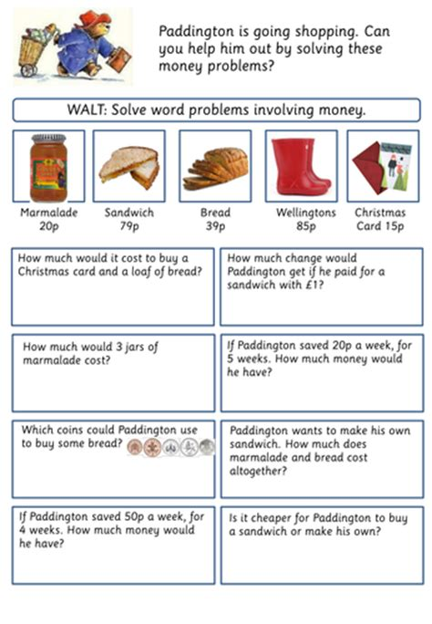 money word problems worksheets uk word problems involving money by jordantelope teaching resources tes