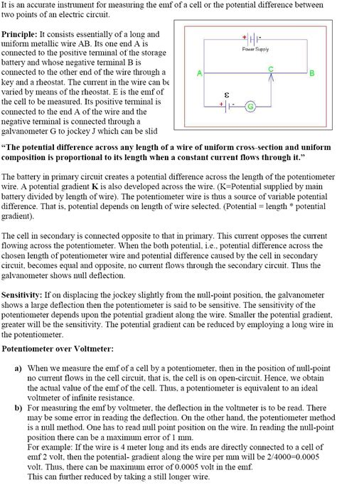 cbse class  physics notes current electricity part ii
