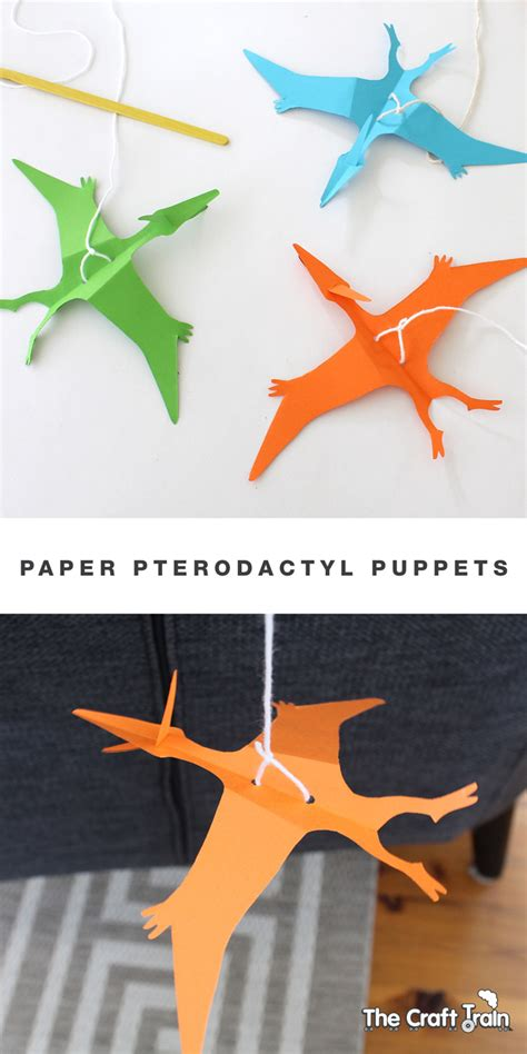 paper pterodactyl puppet  craft train