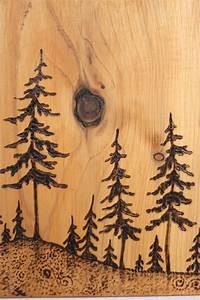 Pine, Trees, -, Art, Block