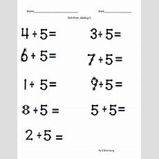 Touch Math Addition Adding 5 By Sophie's Stuff Tpt