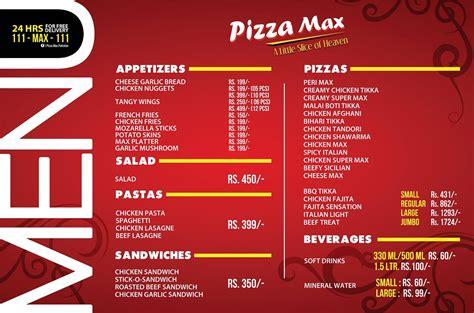 pizza max airport restaurant  karachi menu timings