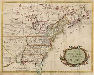 1760s  U201ca New Map Of North America U201d Vintage Style American
