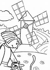 Mill Coloring Pages Coloringway Print Building sketch template