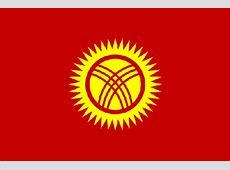 Kyrgyzstan Kyrgyz Republic National Flag and coat of arms