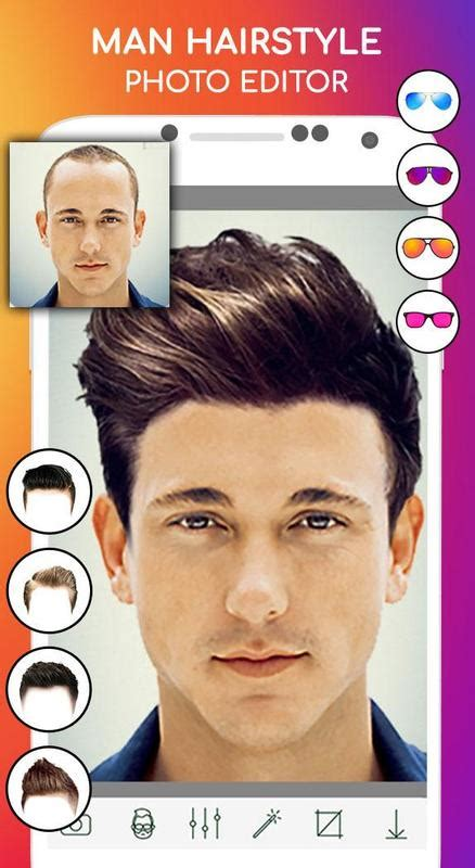 man hairstyle photo editor  android apk