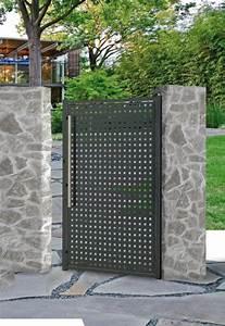 Portail De Jardin : portail acier galvanis battant alix roy en 2019 j ~ Melissatoandfro.com Idées de Décoration