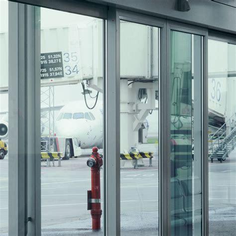 hospital sliding  hinged glass door