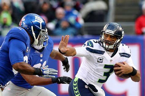 seahawks  giants point spread nfl week  odds