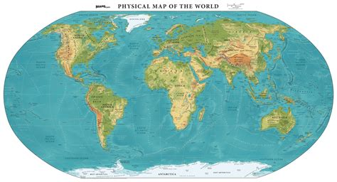 physical map   world elevation mapscom
