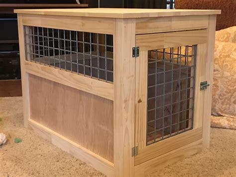 slightly altered large dog kennel  table