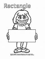 Rectangle Coloring Template Toddlers sketch template