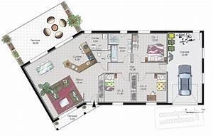 maison de plain pied 7 detail du plan de maison de plain With faire sa maison en 3d 9 porte de garage ooreka