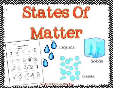 Physical Science States of Matter Worksheet