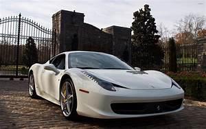White Ferrari 458 Italia in the garden wallpaper - Car ...