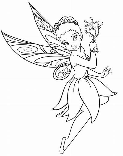 Coloring Pages Disney Fairies Printable Cartoons Fairy
