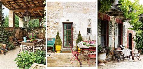 claves  decorar patios  estilo toscano