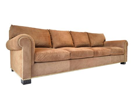 what is a sofa suede rolled arm sofa by ralph lauren for sale at 1stdibs