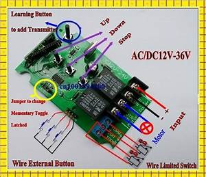 12v 24v 36v Motor Controller Limited Switch Manual Motor