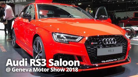 Audi Rs3 Saloon 2018 At Geneva Motor Show 2018