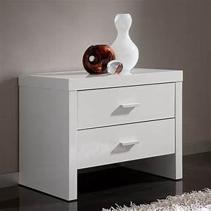 Table De Chevet Design : table de chevet design 2 tiroirs tino zd1 chv a d ~ Teatrodelosmanantiales.com Idées de Décoration